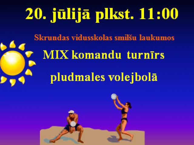Piesakies pludmales volejbola sacensībām Skrundā!