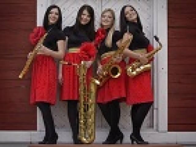 Dāmu saksofonu kvartets aicina uz koncertu