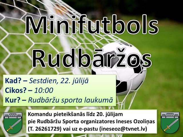 Aicinām piedalīties Skrundas novada atklātajā čempionātā minifutbolā