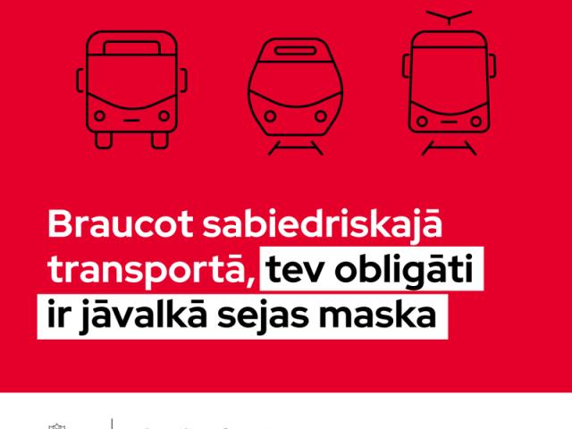 No 7. oktobra sabiedriskajā transportā obligāti jālieto sejas maskas